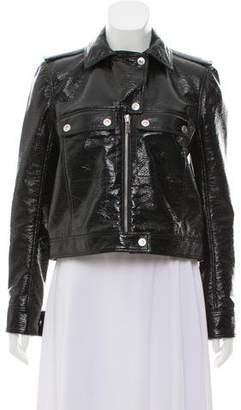 Courreges Coated Vegan Leather Jacket
