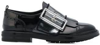 AGL oversized buckle loafers