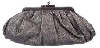 Chanel Leather Monte Carlo Clutch silver Leather Monte Carlo Clutch