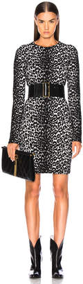 Givenchy Leopard Jacquard Sweater Dress