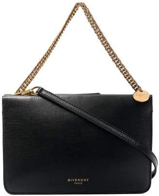 Givenchy black cross 3 leather shoulder bag