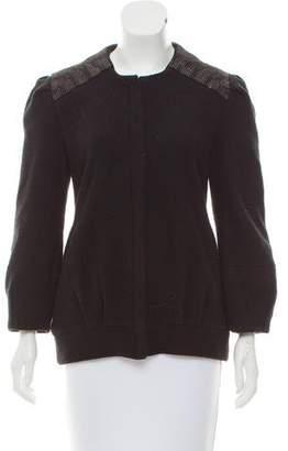 Loeffler Randall Embellished Tweed Jacket