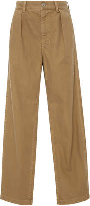 Citizens of Humanity Avery Pleated Wide-Leg Chino Pants