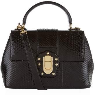 Dolce & Gabbana Small Python Lucia Top Handle Bag