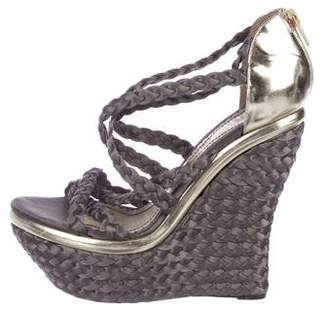 John Galliano Braided Satin Wedges