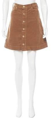 McGuire Denim Corduroy Mini Skirt