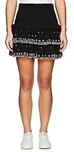 Etoile Isabel Marant Women's Naomi Smocked Cotton Miniskirt-Black