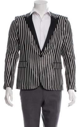 83da04f0 Saint Laurent 2013 Peak-Lapel Striped Tuxedo Jacket w/ Tags