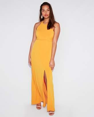 Express High Slit Maxi Dress