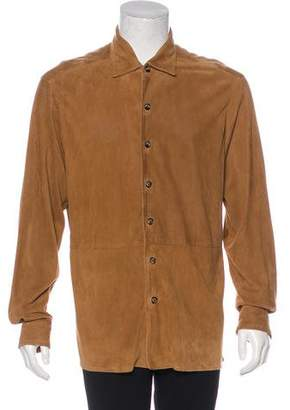 Loro Piana Perforated Suede Shirt Jacket