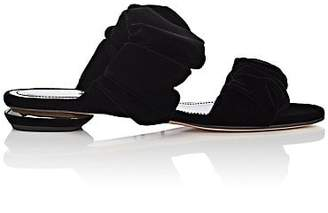 Nicholas Kirkwood Women's Courtney Velvet Slide Sandals - Black