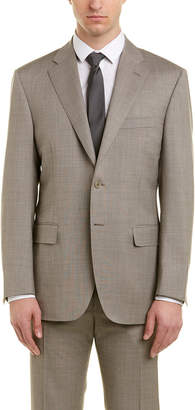 Canali 2Pc Wool Suit With Flat Plant