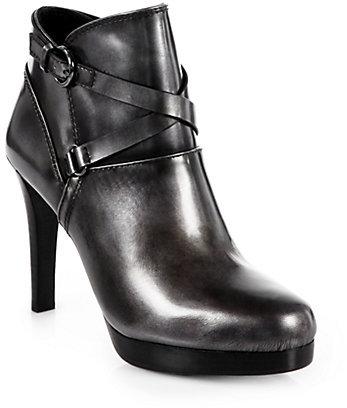 Elie Tahari Brendon Metallic Leather Ankle Boots