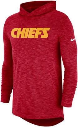 Nike Men's Kansas City Chiefs Dri-Fit Cotton Slub On-Field Hooded T-Shirt