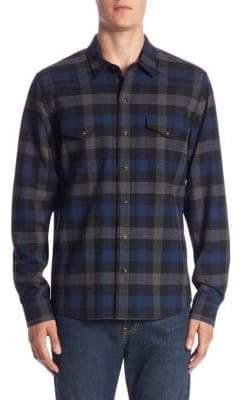 Vince Regular-Fit Plaid Virgin Wool Shirt