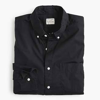 J.Crew Untucked stretch Secret Wash shirt in garment-dyed solid poplin