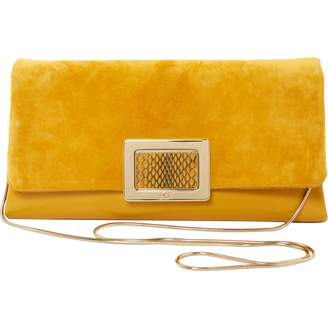 Roger Vivier Yellow Suede Clutch bags