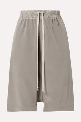 Rick Owens Silk Shorts - Gray