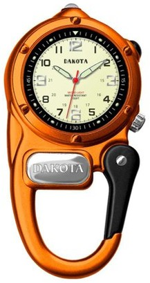 Dakota Mini Clip Microlight Carabiner Watch Orange
