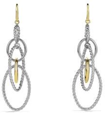 David Yurman Mobile Large Link Earrings with Gold $650 thestylecure.com