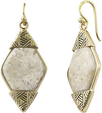 ARTSMITH BY BARSE Art Smith by BARSE Lab-Created African Opal Brass Drop Earrings