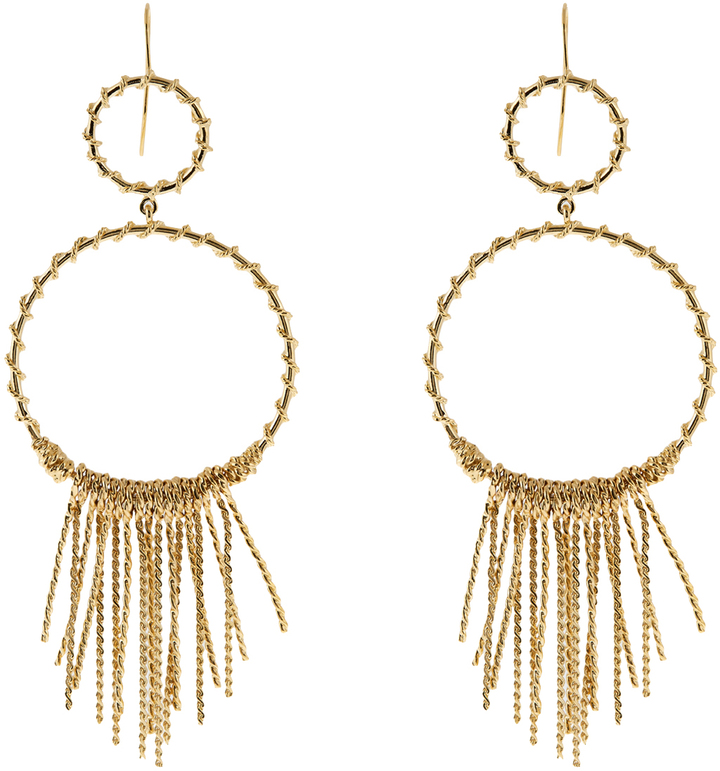 Aurelie Bidermann AURÉLIE BIDERMANN Maria gold-plated earrings