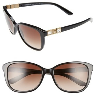 Women's Versace 57Mm Sunglasses - Black
