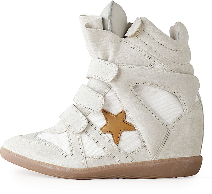 Isabel Marant Bayley High-Top Sneaker w/Star