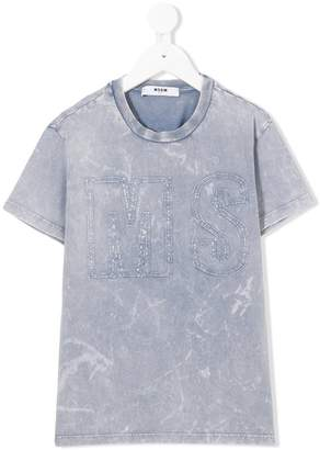 MSGM embroidered logo T-shirt