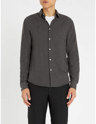 Sandro Regular-fit brushed-cotton shirt