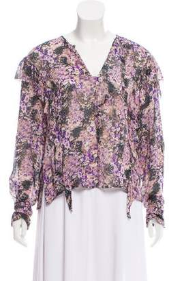 Etoile Isabel Marant Floral Print Long Sleeve Blouse w/ Tags