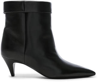 Saint Laurent Charlotte Kitten Heel Ankle Boots in Black | FWRD