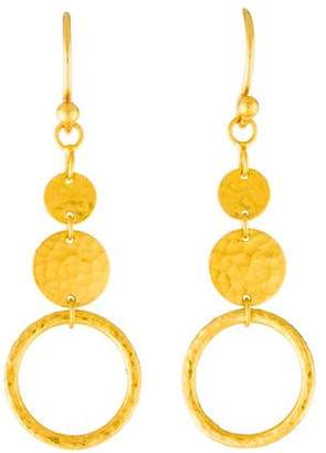 Gurhan 24K Long Lush Geo Drop Earrings