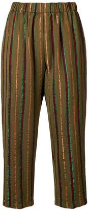 Forte Forte striped print cropped trousers