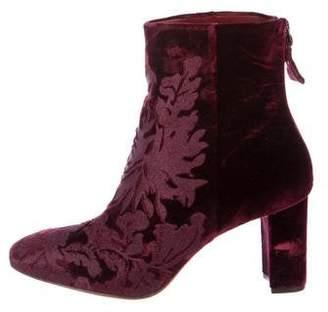Alexandre Birman Embroidered Velvet Boots