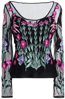 Temperley London Embroidered Tulle Top