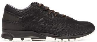 Lanvin Runner Mesh Low Top Sneakers - Mens - Black