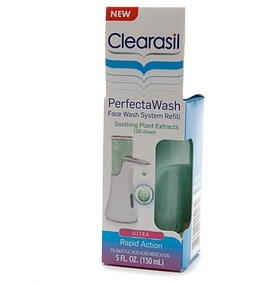Clearasil PerfectaWash Face Wash System Refill, Soothing Plant