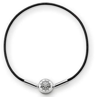 Thomas Sabo Unisex-Stopper for Necklace Bracelet Karma Beads 925 Sterling Silver blackened Silicon KS0001-585-12 fT3GZu