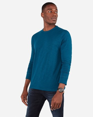 Express Crew Neck Slub Long Sleeve T-Shirt