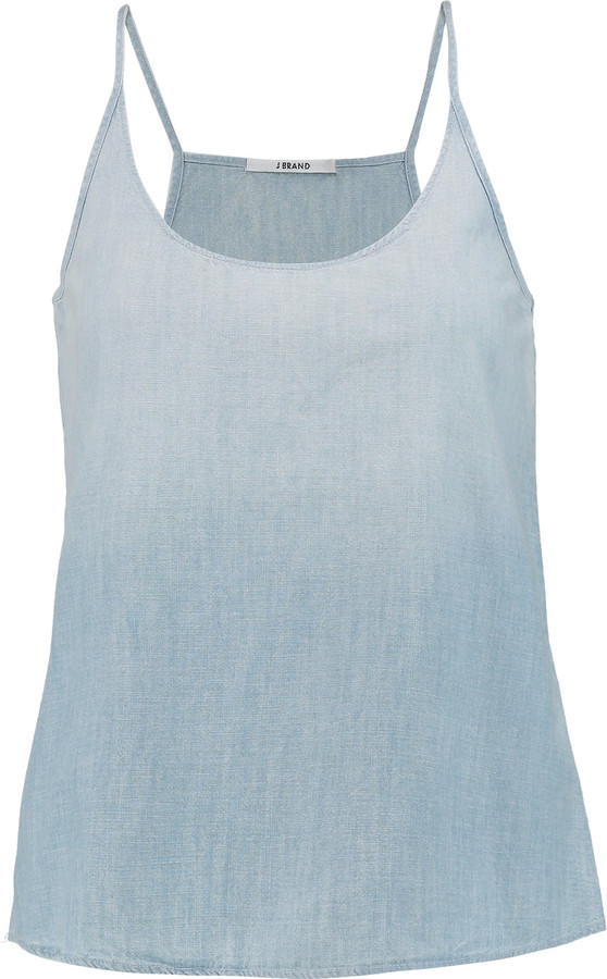 J Brand J Brand Hope cotton-chambray camisole
