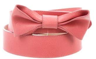 RED Valentino Bow- Accented Leather Belt
