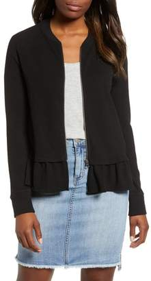Caslon Ruffle Hem Knit Jacket