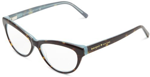 Kate Spade Abena Abena Cat Eye Reading Glasses,Dark Tortoise/Ocean 1.5,52 mm