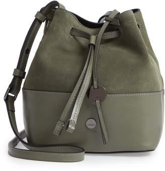 Lodis Los Angeles Small Blake RFID Leather Bucket Bag