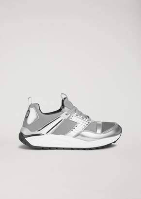 Emporio Armani Ea7 Technical Fabric Running Sneakers