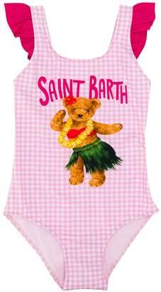 MC2 Saint Barth Vichy Print Lycra One Piece Swim Suit