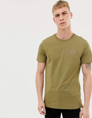 Paul Smith slim fit zebra logo t-shirt in khaki