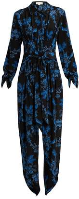 Stella McCartney Floral-print silk jumpsuit
