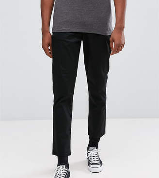 Asos Design TALL Tapered Cropped Chinos In Black